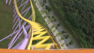 Flight of the Phoenix Intamin 8 Inversion Roller Coaster Front Seat POV Harborland Theme Park China