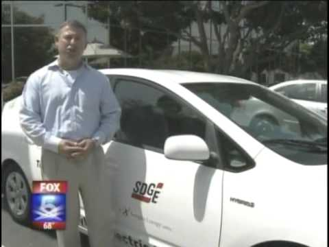 Fox News 5 San Diego Nissan Leaf SDGE Charging Stations
