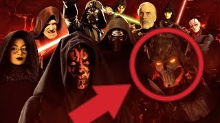 EVERY STAR WARS SITH EVER