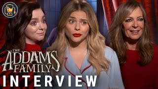 Chloe Grace Moretz, Elsie Fisher & Allison Janney | The Addams Family Interviews