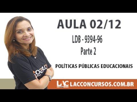 SEDUC MT - Políticas Públicas Educacionais - LDB 9394 96 - Parte 2 - 02/12