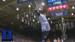 Duke's Zion Williamson Does A 360 Dunk