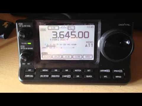 ICOM - IC 7100 in Use CW - LSB - WFM - RTTY - Sunday Morning 10:30h