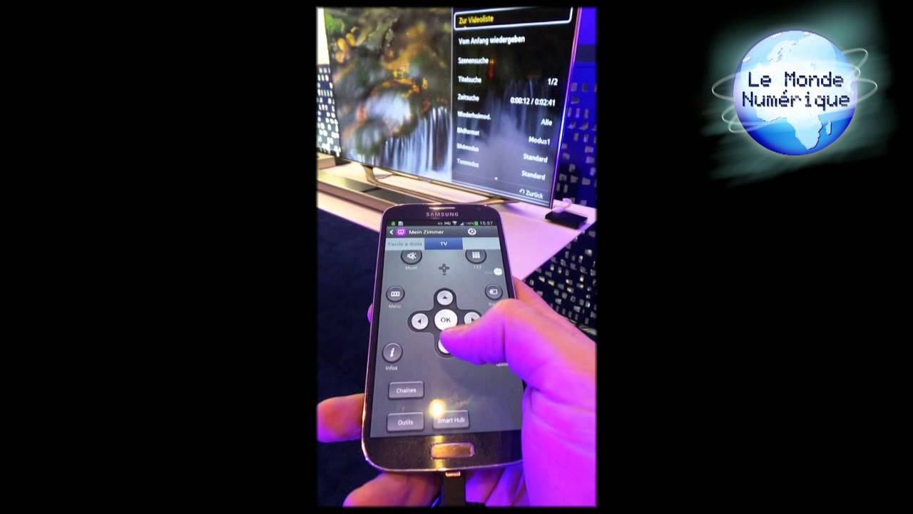 Samsung galaxy s4 t l commande universelle youtube - Telecommande clim samsung ...