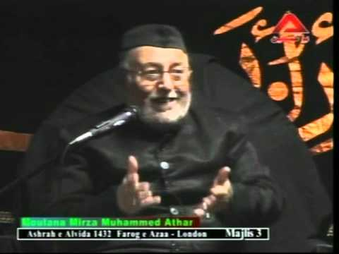 Mirza Athar Majalis 3 The Holy Prophet (s) Ahlebait Tv Alwida Ashra London Uk 1432 2011 video