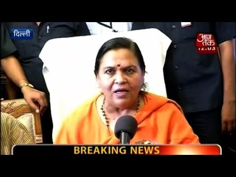Uma Bharti takes charge of Water Resources & Ganga Rejuvenation