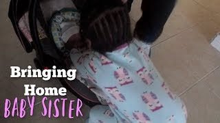 Big Sister Meets Sibling For the 1st Time! | Bringing Home Baby