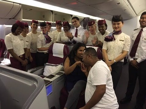 Qatar Airways Flight Marriage Proposal Doha To Dubai Nur And Mesay