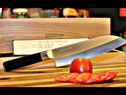 Kamikoto Santoku Chef Knife Unboxing and Review - knife review - chef knife review - kamikoto knives