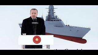 Cumhurbaşkanımız Erdoğan, Test ve Eğitim Gemisi Ufuk (A-591) Denize İniş Töreni'nde konuştu