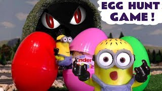 Minions Kinder surprise eggs hunt Monster in Tunnel Game Colors with Thomas and Friends TT4U