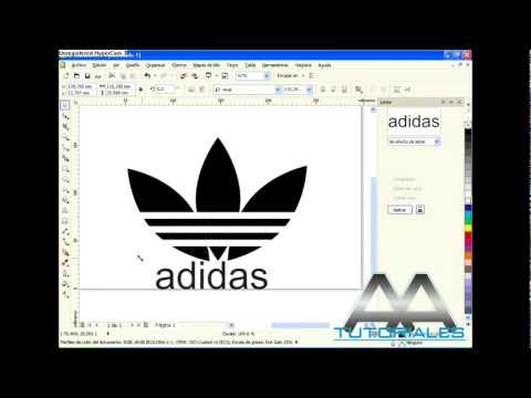 COREL DRAW X5 - logo adidas! (HD)