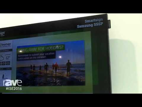 ISE 2016: Smartsign Explains a Digital Signage Solution