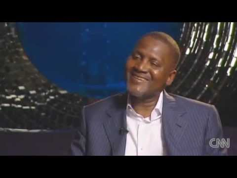 Billionaire Aliko Dangote interviewed by CNN