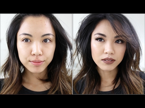 Brown with Gold Accent Makeup Tutorial with Bold Brown Lips   beautybitten