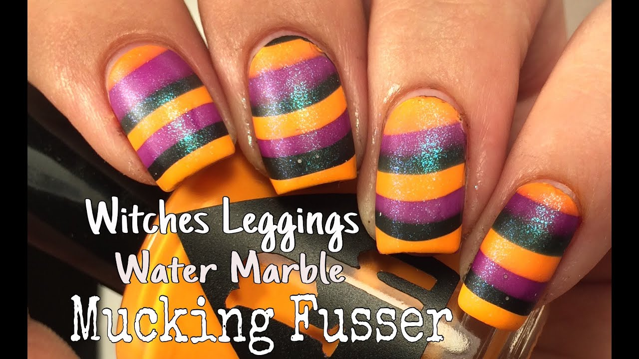 Witches Leggings Water Marble