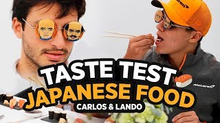Carlos Sainz and Lando Norris Try Japanese Food