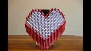 Corazon Origami 3d