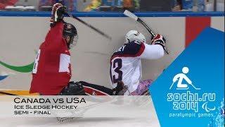 Canada vs USA | Semi-final Ice Sledge Hockey |  Sochi 2014 Winter Paralympic Games