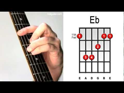 Eb Major - Guitar Chord Lesson - Easy Learn How To Play Bar Chords ...