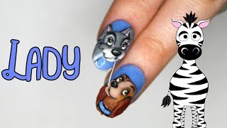 4D Lady Acrylic Nail Art Tutorial | Lady and the Tramp