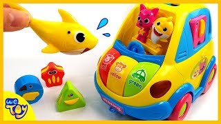 Baby Shark Family Melody Car Starting~! Pororo and Dino look for the block! | WeToy