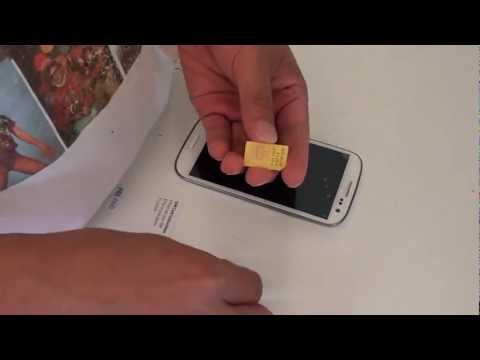 Insert Micro SIM Card into Samsung Galaxy S3