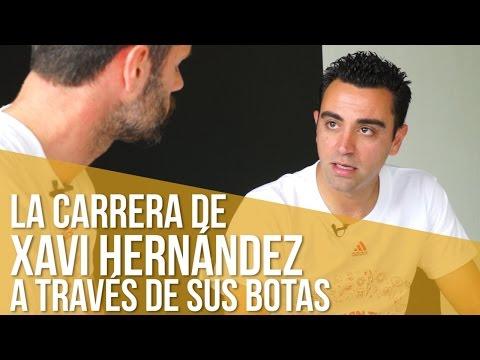 La carrera de Xavi Hernández a través de sus botas