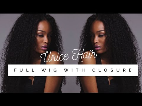 DIY   Full Wig With Lace Closure ft. UNICE HAIR