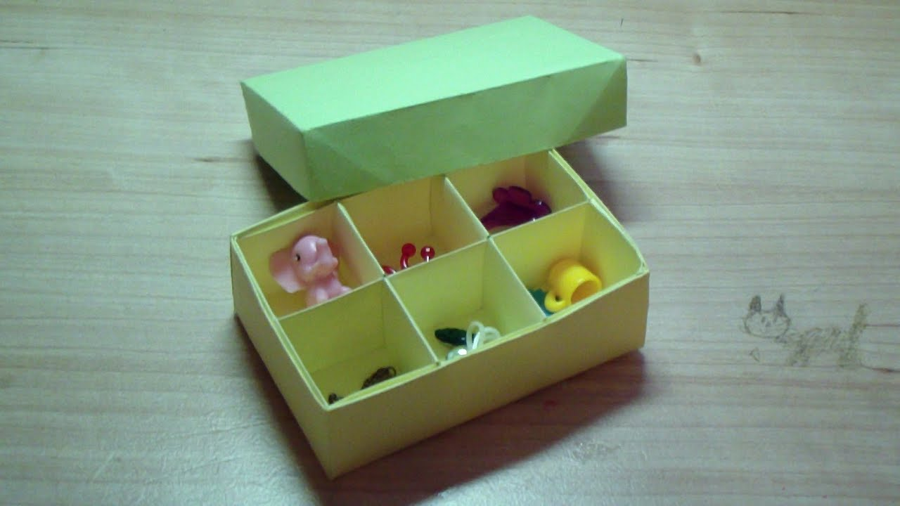 Коробочка органайзер своими руками из бумаги