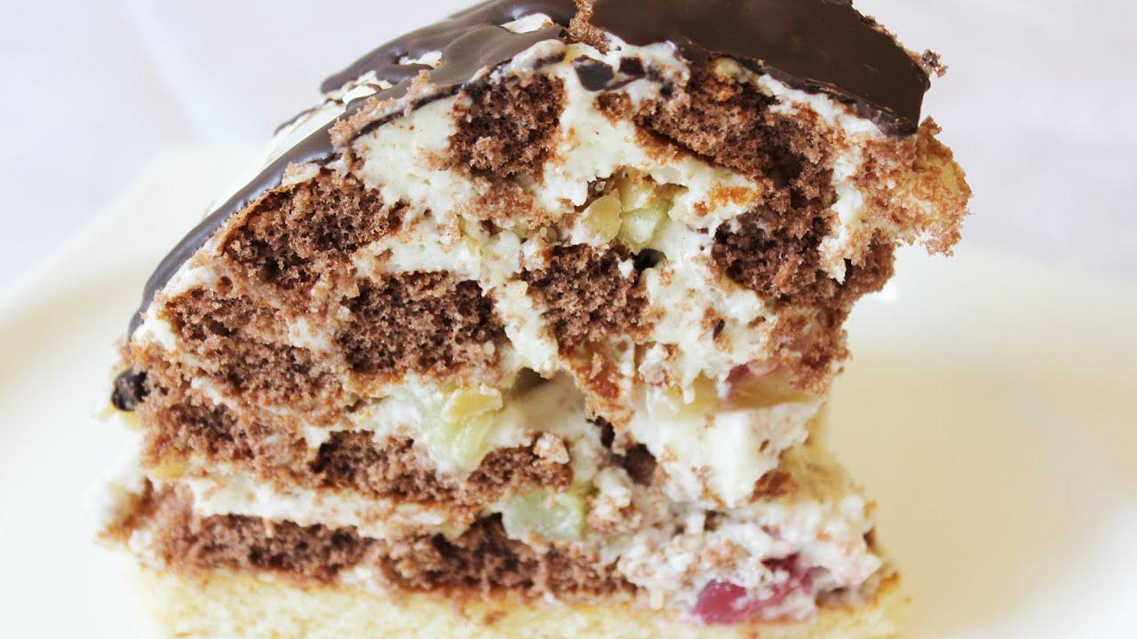 Торт из пряников с бананами и сметаной рецепт с фото, как 31