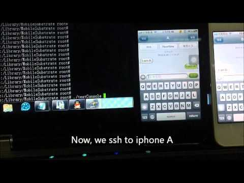 IOS SMS flaw (IOS text spoofing) demo