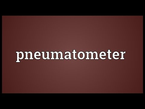 Header of pneumatometer