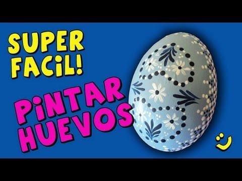 Pintar huevos con dot painting dot painting easter eggs for Como pintar huevos de pascua