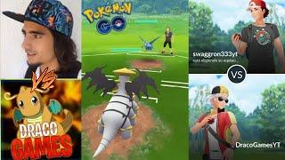 DRACO vs SWAGGRON !! COMBATES ÉPICOS (PvP) !! - Pokemon Go