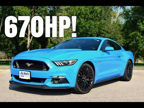 2017 Ford Mustang GT w/ Roush Supercharger Driving Review - 670HP