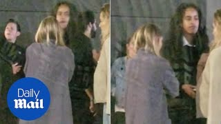 Malia Obama enjoys a night out with friends at Boston nightclub
