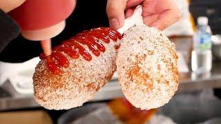 두물머리 연핫도그 - 한국 길거리음식 / Lotus leaf Hotdog - Korean street food