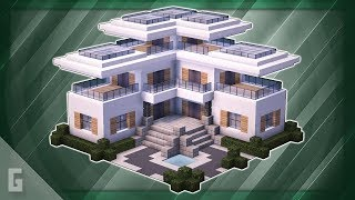 Minecraft: How to Build A Large Modern House! (#29)