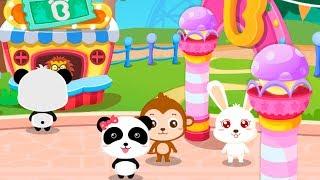 Gấu con và các bạn đi chơi công viên ăn kem và chơi rất nhiều trò chơi