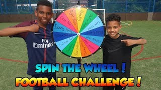 SPIN THE WHEEL SOCCER CHALLENGE!! TASH BALLER VS KAILEM!!