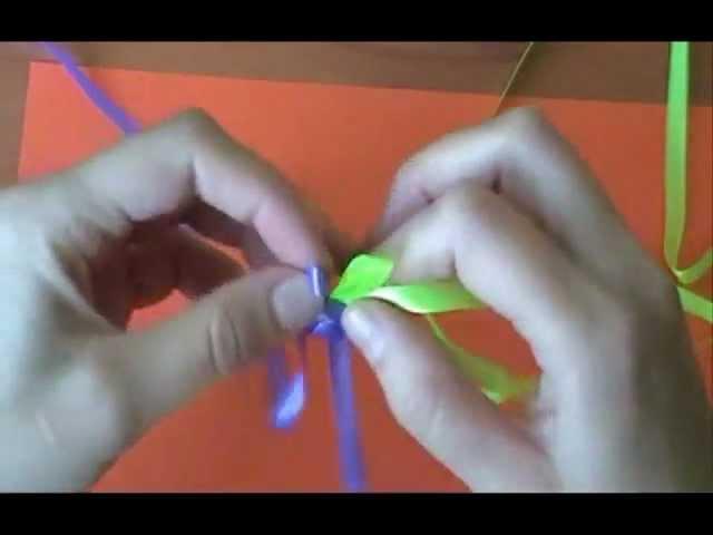 Плетение фенечек из ленточек: