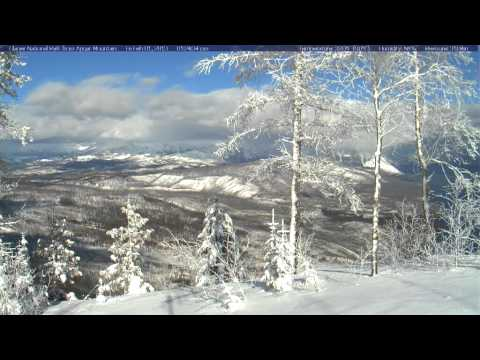 Timelapse from webcam at Glacier National Park, view from Apgar Mountain, 2013-02-01