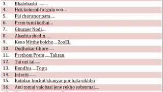 Copy of Top &  Favorites Bangla  Song List 2010-2016