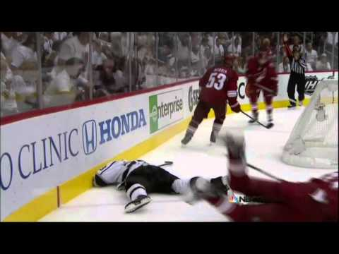 Martin Hanzal boarding on Brown. Los Angeles Kings vs Phoenix Coyotes Game 2 5/15/12 NHL Hockey