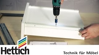 Upgrade your drawer: Changing roller runners to ball bearing slides. Do-It-Yourself with Hettich