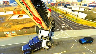 GTA V Unbelievable Crashes/Falls - Episode 28