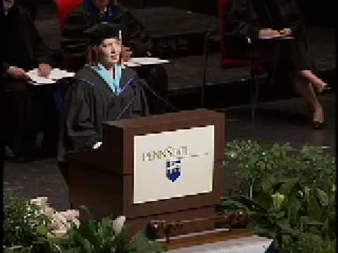 Kerry Golden addresses spring 2008 graduating class