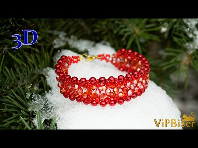Beaded Bracelet SORBUS. 3D Beading Tutorial