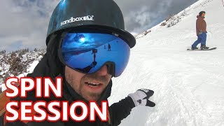 SPIN TRICK SNOWBOARDING SESSION WITH SPORTRX CREW